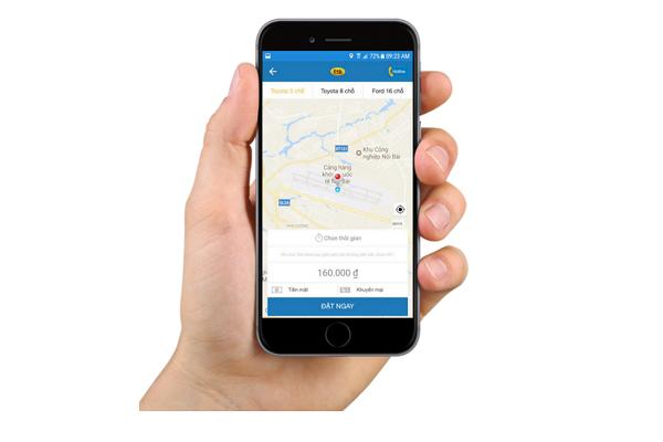 Uứng dụng công nghệ đặt xe online