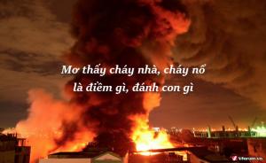 Mơ thấy lửa đánh con bao nhiêu