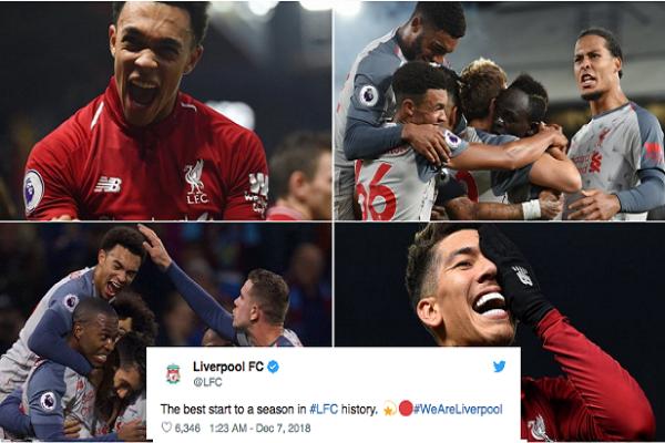 12 thống kê đáng kinh ngạc của Liverpool mùa giải 2018/19