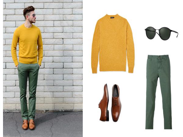 Cách phối màu quần áo cho nam giới