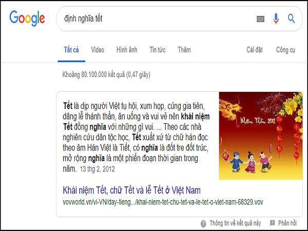 mẹo nhỏ search Google