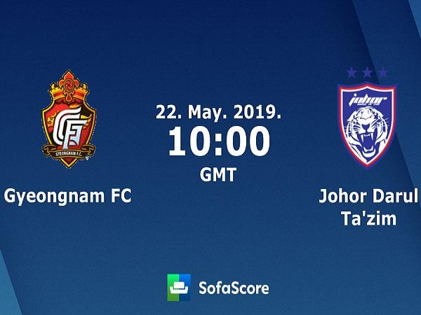 Dự đoán Gyeongnam vs Johor DT, 17h00 ngày 22/05