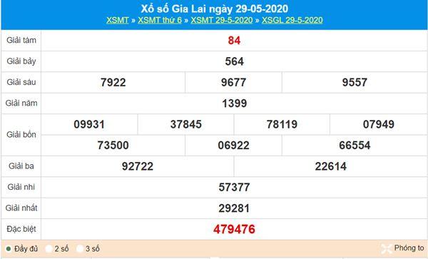 Soi cầu XSGL 5/6/2020 chốt KQXS Gia Lai nhanh và chuẩn nhất