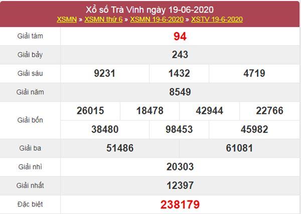 Soi cầu XSTV 26/6/2020 chốt lô số đẹp Trà Vinh thứ 6