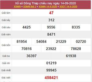 Thống kê XSDT 21/9/2020 chốt lô VIP Đồng Tháp thứ 2