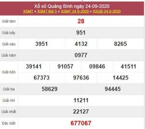 Phân tích XSQB 1/10/2020 chốt KQXS Quảng Bình thứ 5