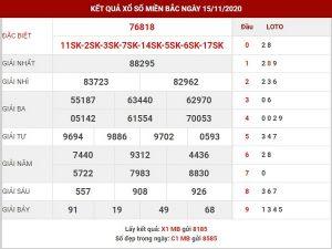 Thống kê xsmb ngày 16/11/2020- xổ số miền bắc hôm nay