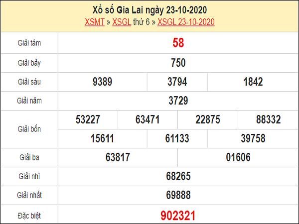 Dự đoán XSGL 30/10/2020