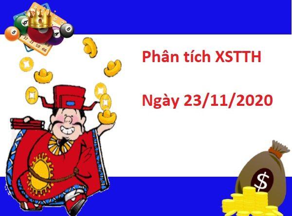 Phân tích XSTTH 23/11/2020