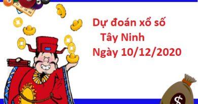 Dự đoán xổ số Tây Ninh 10-12-2020