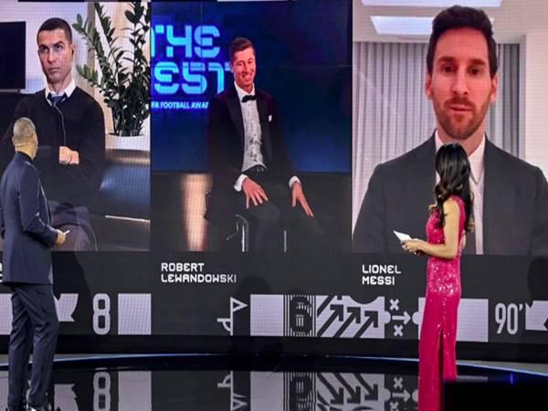 Phản ứng của Ronaldo khi Lewandowski đoạt FIFA The Best