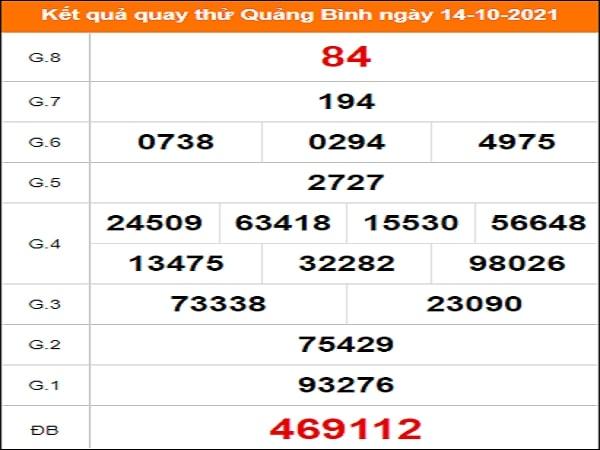 Quay thử xổ số Quảng Bình ngày 14/10/2021
